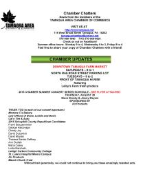 8-14-2015, Tamaqua Chamber of Commerce Chamber Chatters-page-001
