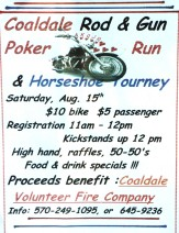 8-15-2015, Poker Run and Horseshoe Tournament, Coaldale Rod and Gun Club, Coaldale