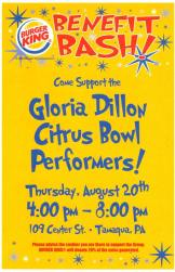 8-20-2015, Gloria Dillon Citris Bowl performers, Fundraiser, Burger King, Tamaqua