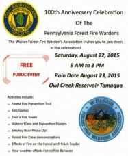 8-22-2015, 100th Anniversary Celebration of PA Forest Fire Wardens, Owl Creek Reservoir, Tamaqua