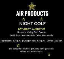 8-22-2015, Air Products Night Golf, Mountain Valley Golf Course, Barnesville