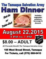 8-22-2015, Ham Dinner Fundraiser, Tamaqua Salvation Army, Tamaqua