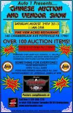 8-29-2015, Chinese Auction, Vendor Show, Pine View Acres Restaurant, Pottsville