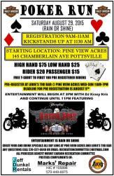 8-29-2015, Poker Run, for Mount Carbon Rec Committee, Pine View Acres, Pottsville