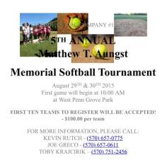 8-29-30-2015, Matthew T. Aungst Memorial Softball Tournament, West Penn Park, West Penn