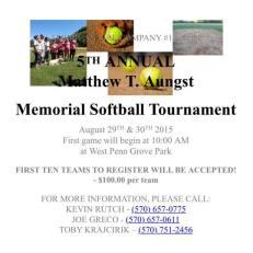 8-29, 30-2015, Matthew T. Aungst Memorial Softball Tournament, West Penn Park, West Penn