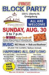 8-30-2015, Community Block Party, Salem United Methodist Church, Orwigsburg