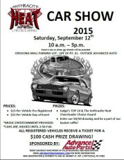 9-12-2015, Car Show, benefits Anthracite Heat All Star Cheerleading, Advanced Auto Parts, Cresson