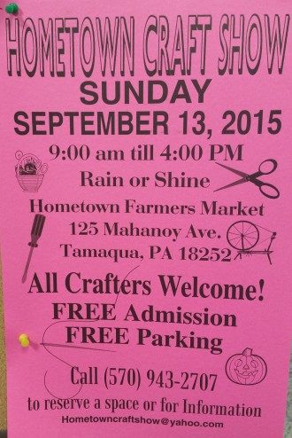 9-13-2015, Hometown Craft Show, Homtown Farmer's Market, Hometown