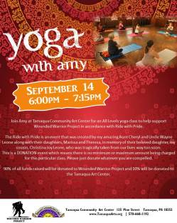 9-14-2015, Yoga With Amy for Wounded Warrior Project, Community Arts Center, Tamaqua