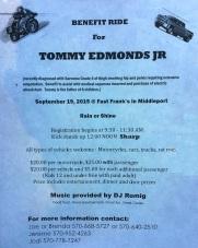 9-19-2015, Benefit Ride for Tommy Edmonds Jr., Fast Frank's Place, Middleport