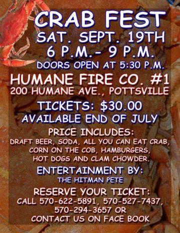 9-19-2015, Crab Fest, Humane Fire Company No 1, Pottsville