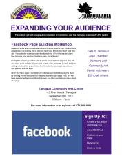 9-26-2015, Facebook Page Building Workshop, Training, via Chamber, Tamaqua Community Arts Center, Tamaqua-page-001