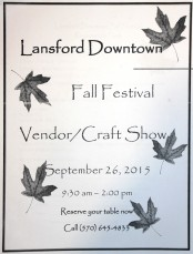 9-26-2015, Fall Festival, Vendor, Craft Show, Downtown Lansford (1)