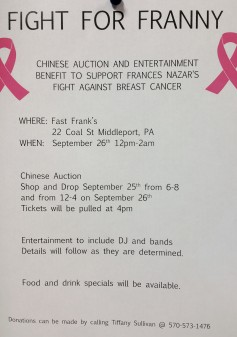 9-26-2015, Fight For Franny Benefit, Fast Frank's Place, Middleport, (2)