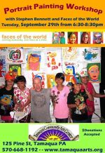 9-29-2015, Portrait Painting Workshop, Tamaqua Community Arts Center, Tamaqua