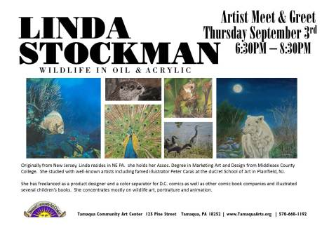9-3-2015, Artist Meet and Greet, Linda Stockman, Community Arts Center, Tamaqua