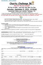 9-5-2015, Charity Challenge 5K, Heislers Dairy Bar, Tamaqua, Walker Township