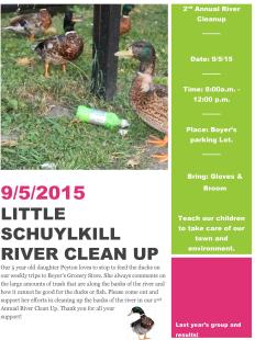 9-5-2015, River Cleanup, Little Schuylkill River, Tamaqua