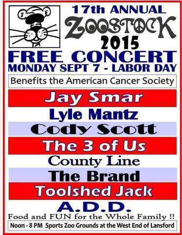 9-7-2015, 17th Annual ZooStock, Sports Zoo, Lansford