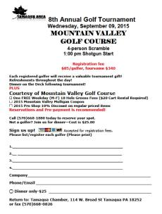 9-9-2015, Tamaqua Chamber Golf Tournament, Mountain Valley Golf Course, Barnesville (1)