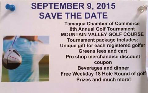 9-9-2015, Tamaqua Chamber of Commerce Annual Golf Tournament, Mountain Valley Golf Course, Barnesvill
