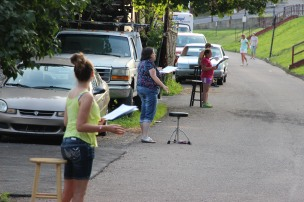 Actors Practicing for Dear Tamaqua, Tamaqua, 7-22-2015 (1)