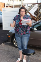 Actors Practicing for Dear Tamaqua, Tamaqua, 7-22-2015 (6)