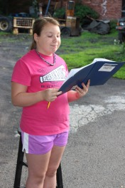 Actors Practicing for Dear Tamaqua, Tamaqua, 7-22-2015 (9)
