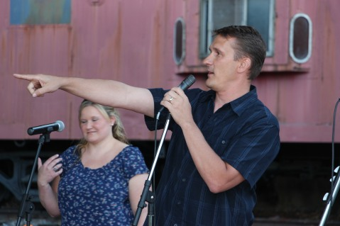 Amanda & Me perform, as part of Chamber Summer Concert Series, Train Station, Tamaqua (80)