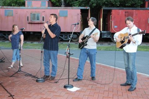 Amanda & Me perform, as part of Chamber Summer Concert Series, Train Station, Tamaqua (81)