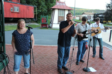 Amanda & Me perform, as part of Chamber Summer Concert Series, Train Station, Tamaqua (98)