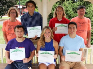 Announcement of Chris and Kevin Truskey 5K Scholarships, Dept Square Park, Tamaqua, 8-9-2015 (1)