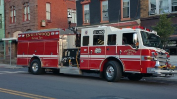 Apparatus Parade during Citz Fest, Citizens Fire Company, Mahanoy City, 8-21-2015 (1)