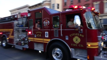Apparatus Parade during Citz Fest, Citizens Fire Company, Mahanoy City, 8-21-2015 (159)