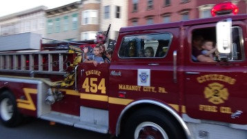 Apparatus Parade during Citz Fest, Citizens Fire Company, Mahanoy City, 8-21-2015 (162)