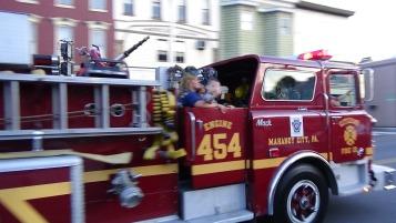 Apparatus Parade during Citz Fest, Citizens Fire Company, Mahanoy City, 8-21-2015 (163)
