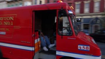 Apparatus Parade during Citz Fest, Citizens Fire Company, Mahanoy City, 8-21-2015 (182)