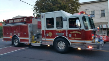 Apparatus Parade during Citz Fest, Citizens Fire Company, Mahanoy City, 8-21-2015 (40)