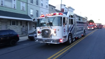 Apparatus Parade during Citz Fest, Citizens Fire Company, Mahanoy City, 8-21-2015 (98)