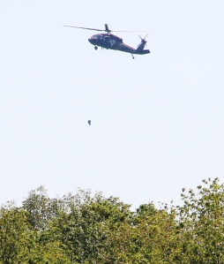 The helicopter could be seen picking up and/or dropping off items or personnel at a location located about a quarter mile southwest of the Tamaqua Middle School parking lot.
