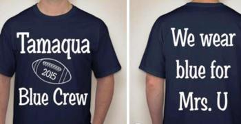 Blue Out T-Shirts for Blue Out for Varsity Football Game, Tamaqua, 8-19-2015