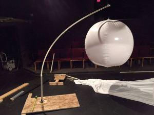 Construction of Glow Orbs, for Dear Tamaqua, Community Arts Center, Tamaqua, 8-1-2015 (1)