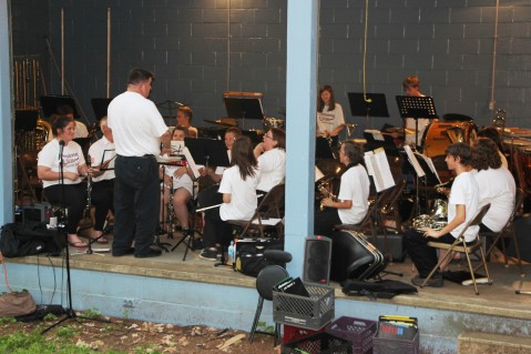Cresona Band, and Junior Band perform, East End Playground, Tamaqua, 7-29-2015 (1)
