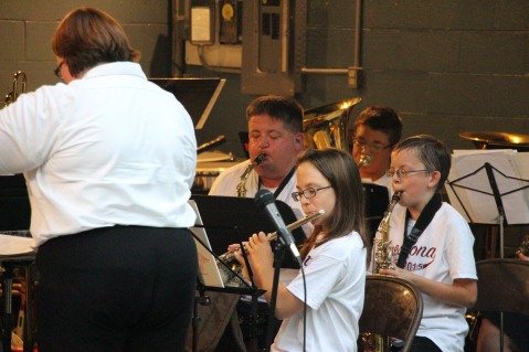 Cresona Band, and Junior Band perform, East End Playground, Tamaqua, 7-29-2015 (12)