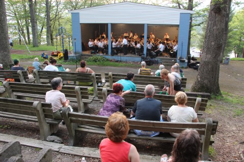Cresona Band, and Junior Band perform, East End Playground, Tamaqua, 7-29-2015 (45)
