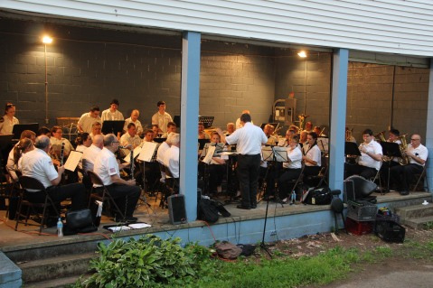 Cresona Band, and Junior Band perform, East End Playground, Tamaqua, 7-29-2015 (56)