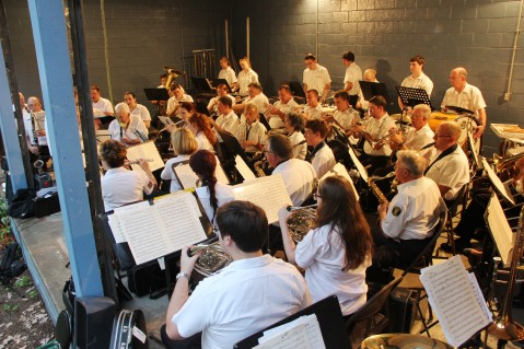 Cresona Band, and Junior Band perform, East End Playground, Tamaqua, 7-29-2015 (83)