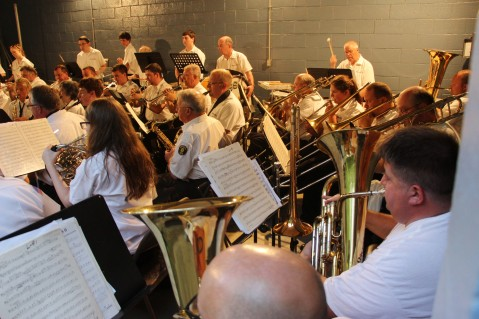 Cresona Band, and Junior Band perform, East End Playground, Tamaqua, 7-29-2015 (98)