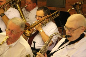 Cressona Band performs, Sheldon Shafer, Weatherwood, Weatherly, 7-27-2015 (10)